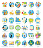 Set of Busines Icons Stock Photography