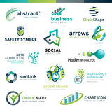 Set of business abstract icons Royalty Free Stock Images