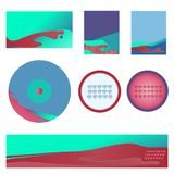 Set for business areas, business cards, banner, badges stock illustration