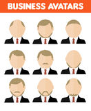 Set of business avatar of businessman Stock Image