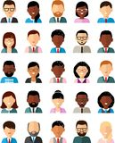Set of business avatar peoples in flat colorful style. Occupation avatars of different manager man and woman Stock Images