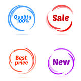 Set of business badges and stickers. Vector illustrator Stock Image