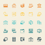 Set of business and banking icons.  Stock Photos