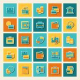 Set of business and banking icons.  Royalty Free Stock Photography