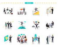 Set of Business Banner Teamwork Royalty Free Stock Image