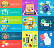 Set of business banners Royalty Free Stock Images