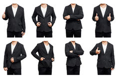 Set of business body on white background. Stock Image