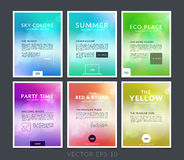 Set of business brochure, flyer and cover design layout template Royalty Free Stock Images