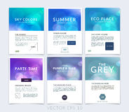 Set of business brochure, flyer and cover design layout template Stock Photo