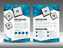 Set of business brochure flyer design layout template. In A4 size Stock Image