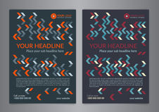 Set A5, A4 Business brochure flyer design layout template with zigzag pattern. Leaflet cover presentation, Modern Backgrounds. Vector illustration Stock Photos