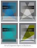 Set of Business brochure,flyer,magazine cover or poster template Royalty Free Stock Photography
