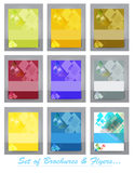Set of Business brochure,flyer,magazine cover or poster template Stock Images