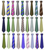 Set of business business ties on a white backg Stock Image