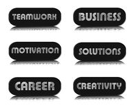 Set of business buttons Royalty Free Stock Photo