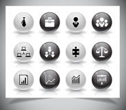 Set of business buttons Royalty Free Stock Photography