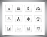 Set of business buttons Royalty Free Stock Photos