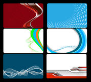 Set of business card Stock Image