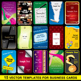 Set Business card Royalty Free Stock Photography