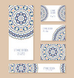 Set of business card, banner, invitation card templates. Stock Photo