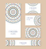 Set of business card, banner, invitation card templates. Stock Photos