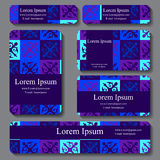 set of business card. decorative ornament. Stock Photos