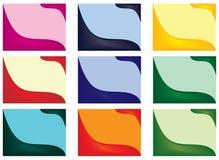 Set of business card designs Stock Photos