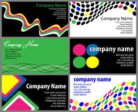 Set of Business Card Designs. Vector illustration of six stylish business card designs vector illustration