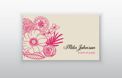Set of business card with floral arabic ornament. Floral vintage business card. Invitation or announcement stock illustration