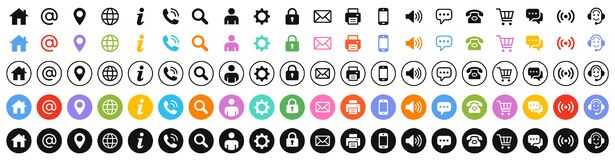 Set of 100 Business Card icons.