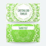 Set of business card and invitation card templates Stock Images