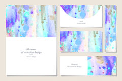 Set of business card Royalty Free Stock Photos