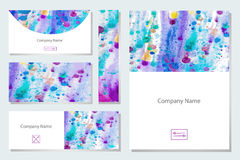 Set of business card Stock Photography