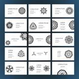 Set of business card Stock Photos