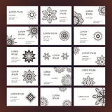 Set of business card Royalty Free Stock Images
