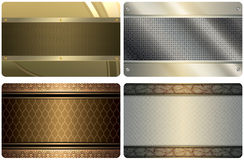 Set of business card templates. Abstract backgrounds. Royalty Free Stock Photo
