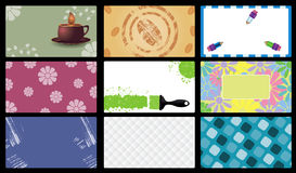 Set of  business card vector Royalty Free Stock Photography