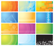 Set of business cards. Illustration Stock Photography
