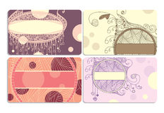Set of business cards Stock Images