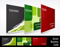 Set of business cards Royalty Free Stock Images