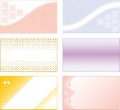 Set of business cards Stock Photos