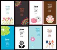Set of business cards. Set of feminine floral business cards stock illustration