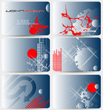 Set of business cards Stock Photos