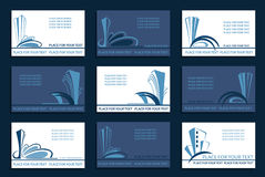 Set of the Business cards Stock Photos