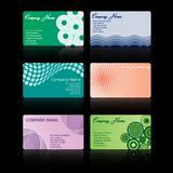 Set of business cards. A  set of six stylish business cards Stock Photo