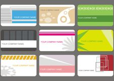 Set business cards Royalty Free Stock Image