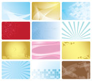 Set - business cards with abstract design - eps Royalty Free Stock Photo
