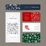 Set of business cards, arrow pattern for your Stock Image
