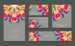 Set of business cards and banners Stock Image