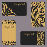 Set of business Cards. Beauty designs. Vintage cards Stock Photos